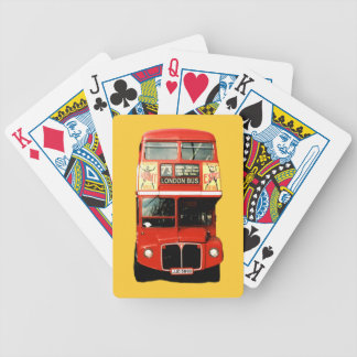 Double-decker Red London Bus Bicycle Playing Cards