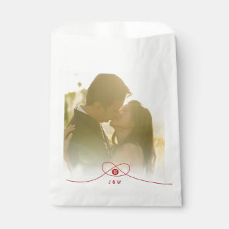 Double Happiness Knot Chinese Wedding Favor Bag Favour Bags