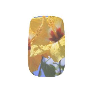 Double Hibiscus Minx Nail Art