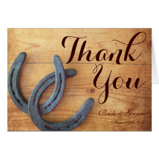 Double Horseshoes Wedding Thank You Cards