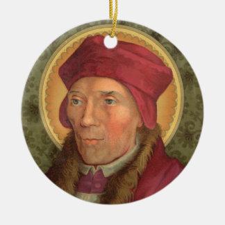 Double Image St. John Fisher (SAU025) Circular Christmas Ornament
