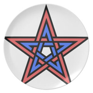 Double-interlaced-pentagram Party Plates