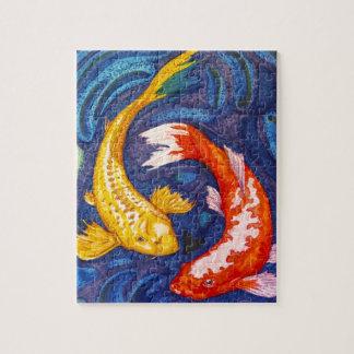 Double Koi Fish Design Puzzles