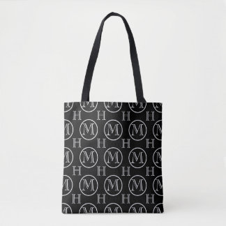 Double Monogrammed OFC Black Tote Bag