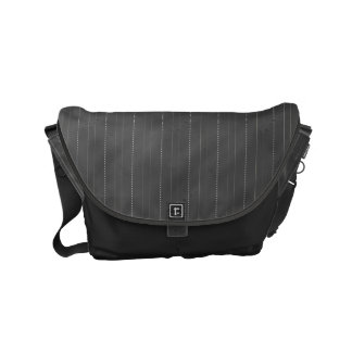 Double Pinstriped (Dk. Gray) Courier Bag