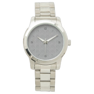Double Pinstriped (Med. Gray) Wristwatches