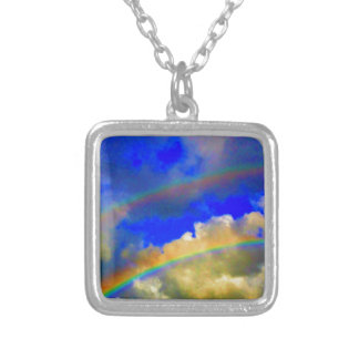 Double Rainbow Vision Silver Plated Necklace
