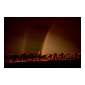 Double Rainbow Wall Poster