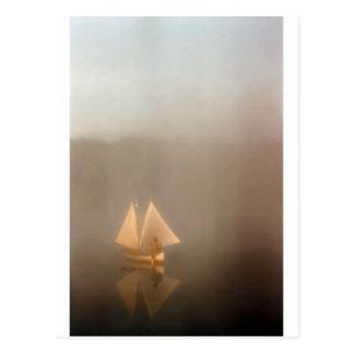 Double Sail Canoe Postcard