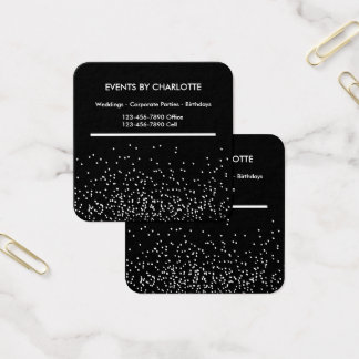 Double Side Event Planner Design Square Business Card
