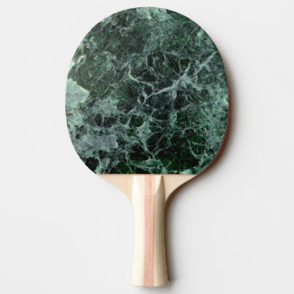 Double sided emerald green marble ping-pong paddle