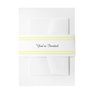 Double Soft Yellow Trim - Belly Band Invitation Belly Band