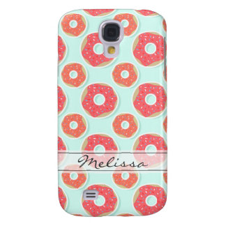 Doughnut Donut Pattern, Pink and Blue Galaxy S4 Case