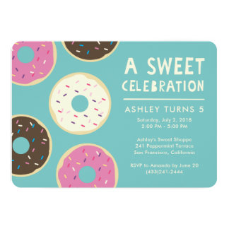 Doughnut Party Invitation