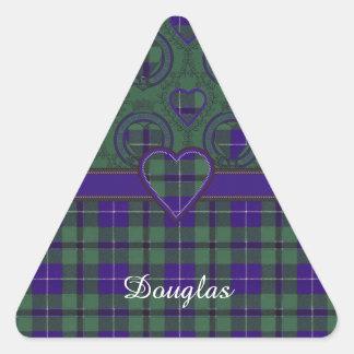 Douglas clan Plaid Scottish tartan Triangle Sticker