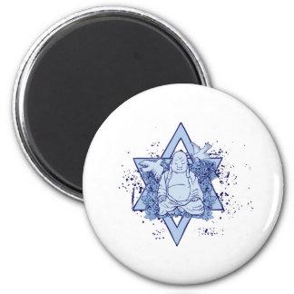Dove Buddha 6 Cm Round Magnet