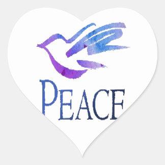Dove Of Peace Heart Sticker