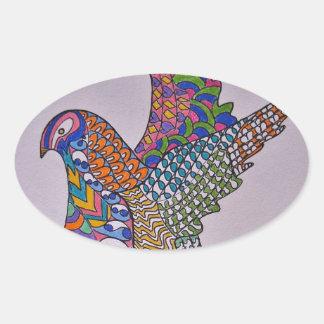 Dove Of Peace Oval Sticker