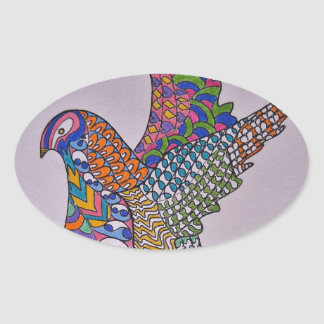 Dove Of Peace Oval Stickers