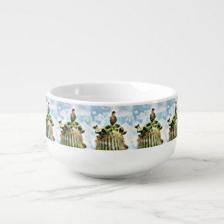 Dove on Saguaro Soup Mug