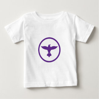 Dove Spreading Wings Circle Baby T-Shirt