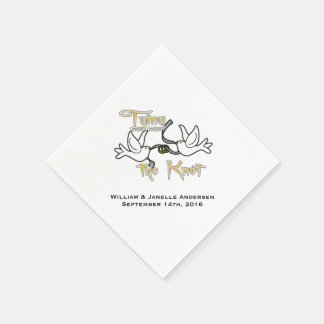 Doves Tying the Knot Wedding Paper  Napkins Disposable Serviettes