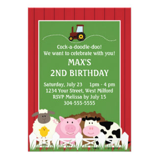 Down on the Farm Birthday Cards
