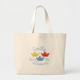 Down The Stream Large Tote Bag