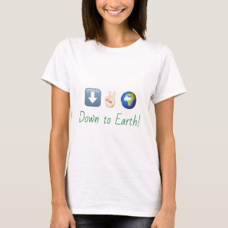 """Down to Earth"" emoji t-shirt"