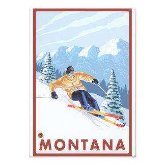 Downhhill Snow Skier - Montana Card