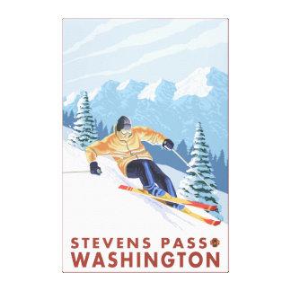 Downhhill Snow Skier - Stevens Pass, Canvas Print