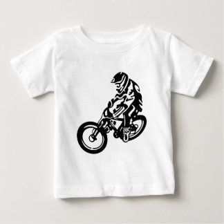 Downhill mountain bike rider baby T-Shirt