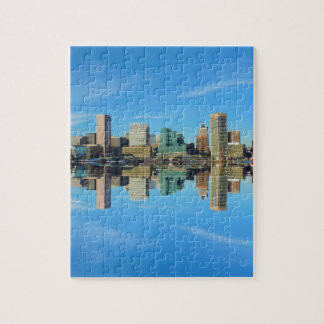 Downtown Baltimore Maryland Skyline Reflection Jigsaw Puzzle