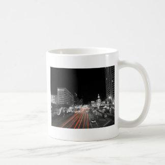 Downtown Baltimore Traffic at Night Coffee Mug