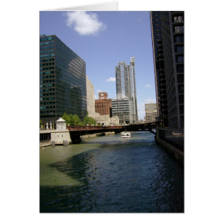 Downtown Chicago by the River Card