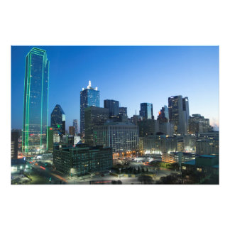 Downtown Dallas in early morning. Art Photo