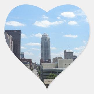 Downtown Louisville Heart Sticker