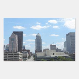 Downtown Louisville Rectangular Sticker