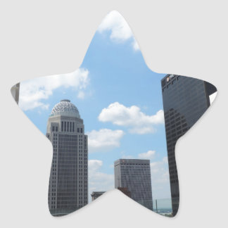Downtown Louisville skyscrapers Star Sticker