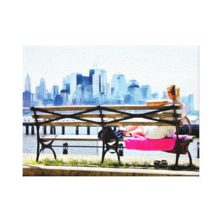 Downtown New York Skyline on a Summer Day Gallery Wrap Canvas