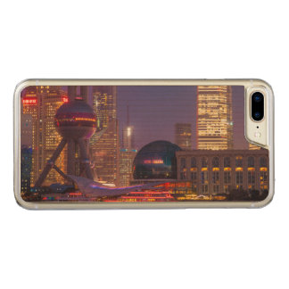 Downtown waterfront shanghai, China Carved iPhone 8 Plus/7 Plus Case