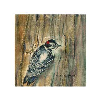Downy woodpecker, wonderful woodpecker, birds, wood prints