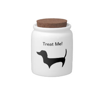 Doxie Treat Jar Candy Dishes