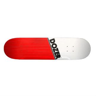 Dozer™ Basic Pinstripe Deck Red Skateboard