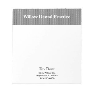 Dr. or Dentist Business Notepad