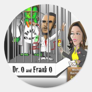 Dr Victor O Frankenstein Classic Round Sticker