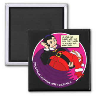 Dracula Christmas Shopping Magnet