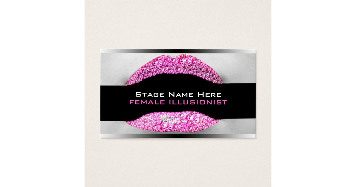 Drag Queen Hot Pink Diamond Bling Business Card | Zazzle.co.nz