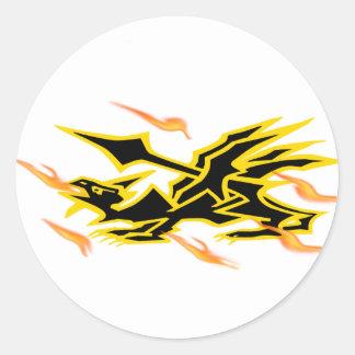 dragon00 round sticker