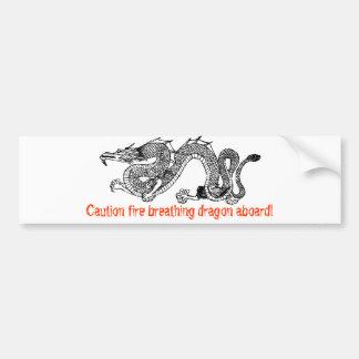 dragon17, Caution fire breathing dragon aboard! Car Bumper Sticker